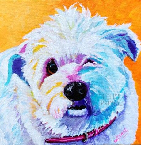 Mildred, painted by Ottawa pet portrait artist, Louise Primeau