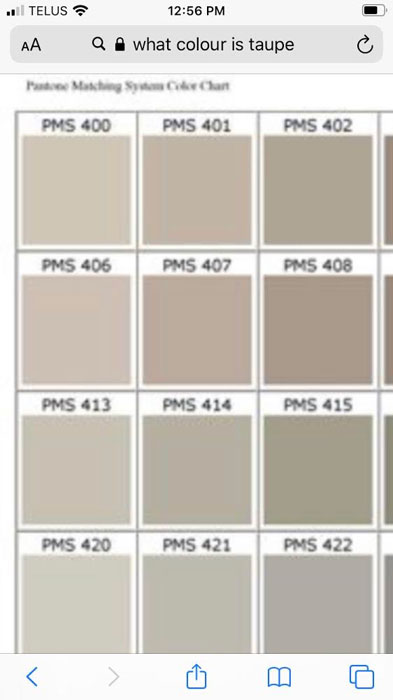 Variations on taupe.