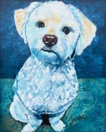 Bernard, pet portrait by Louise's ARTiculations.