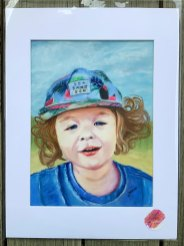 pastel portrait ready to go