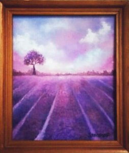 Lavender Fields by Sammar Siddiqui, guest artist at Louise's ARTiculations