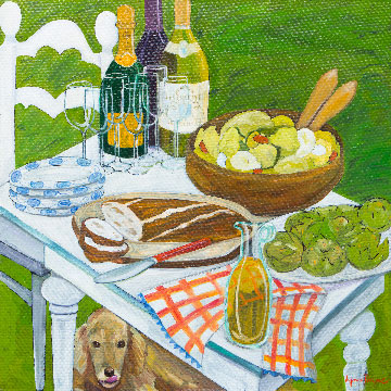Picnic by Lynne Payne, guest artist at Louise's ARTiculations