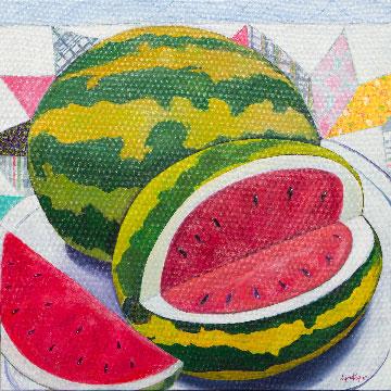 Summer Melon by Lynn Payne, guest artist at Louise's ARTiculations
