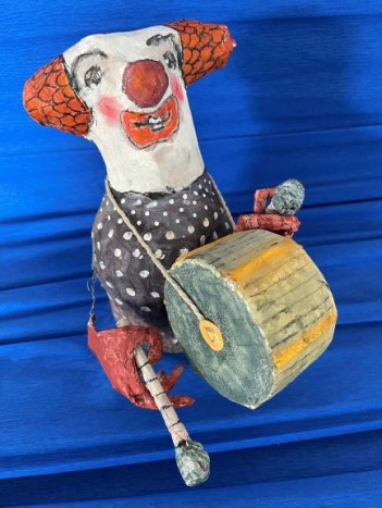 Mr. Trumpet, by Rossana Russo, guest artist at Louise's ARTiculations