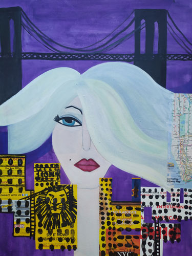 Lady New York by Maria Laura Vila, guest artist at Louise's ARTiculations