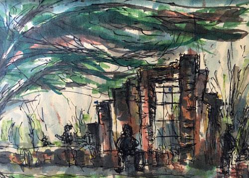 Ruins of Dollis Hill House, Gladstone Park, by Christine Milewska