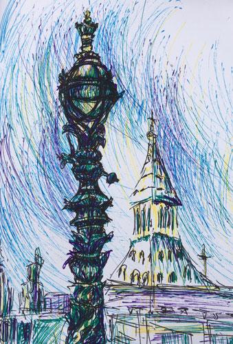 London Lantern by Christine Milewska