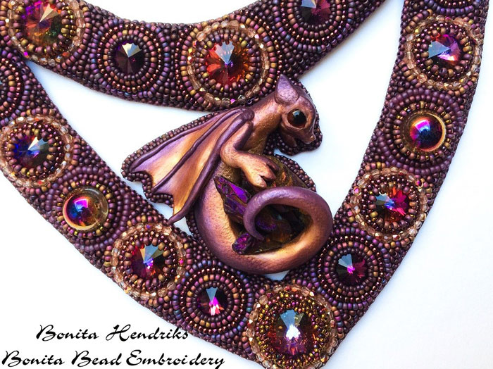 Mystic Dragon by Bonita Balster Hendriks, guest artist at Louise's ARTiculations
