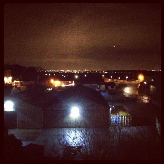 Pretty nighttime lights in Pudsey