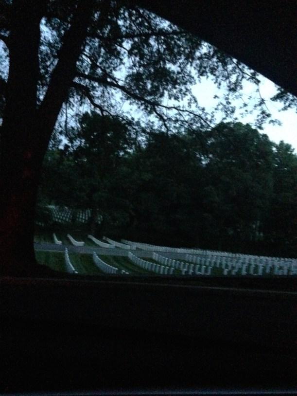 Arlington National Cemetery at night