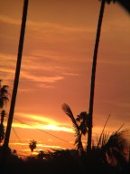 After SoCal fires, the sunset turned bright orange