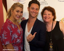 On the red carpet with these two great people - Emma Slater and Sasha Farber