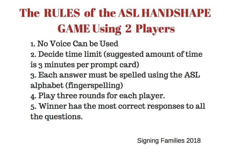 ASL NAME LETTER GAME