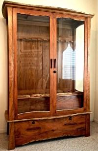 Mesquite & Cherry Gun Cabinet  Louis Fry / A Furniture