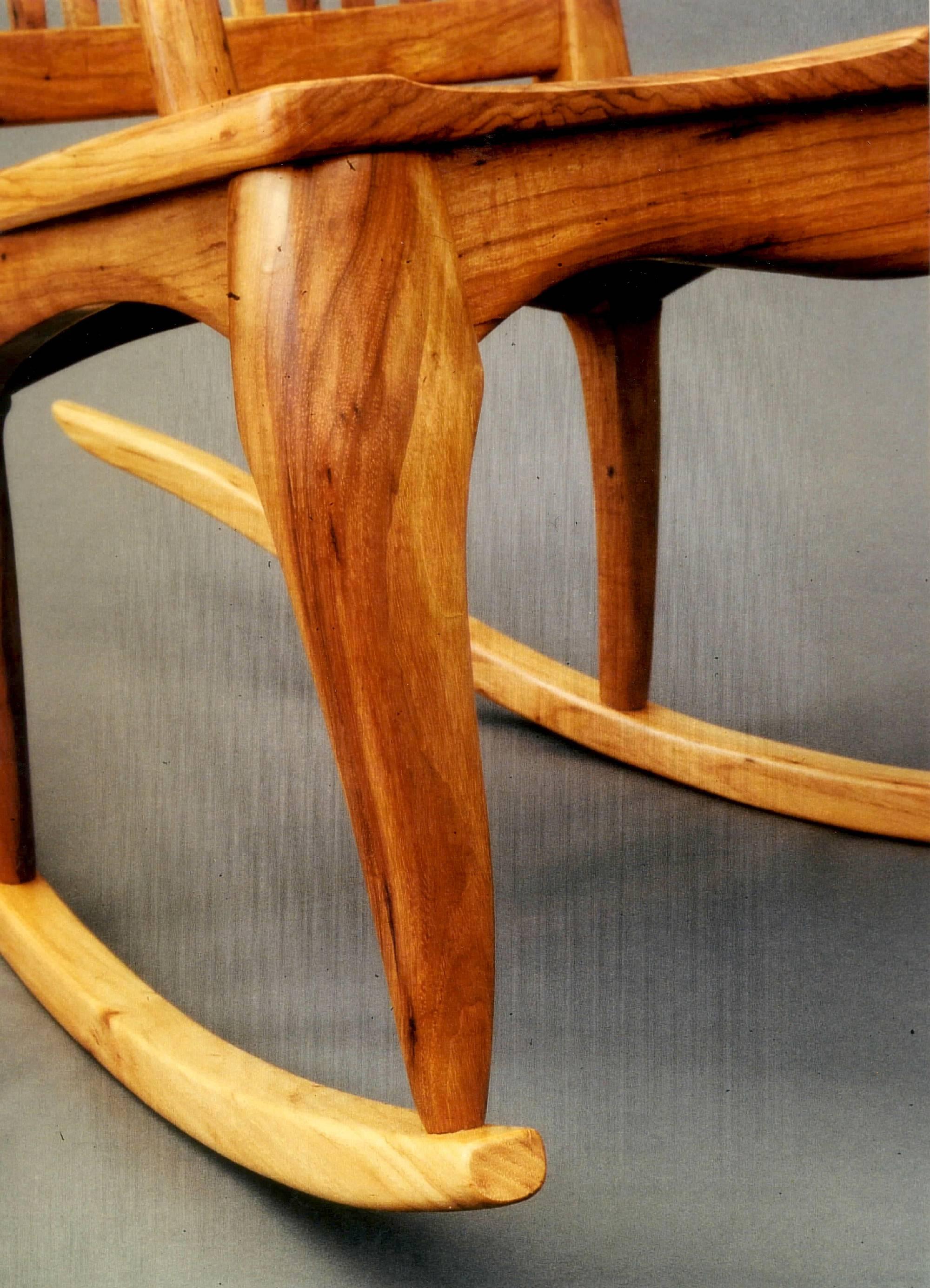 custom rocking chairs texas velvet desk chair handmade in pecan