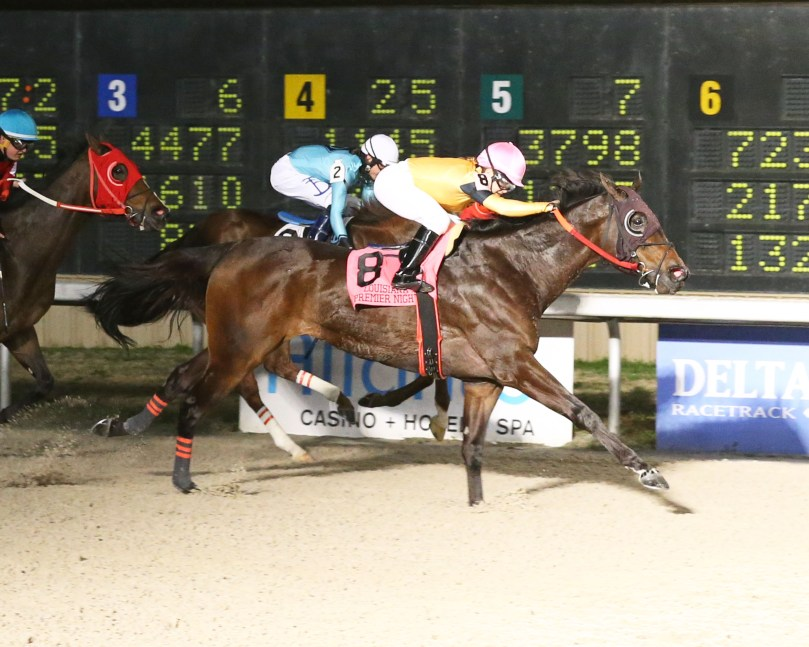 DOUBLE BARREL MAN - La Bred Premier Night Sprint - 02-08-20 - R08 - DED - Finish
