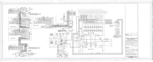 Engine, switchboard & auxiliary generator wiring diagram