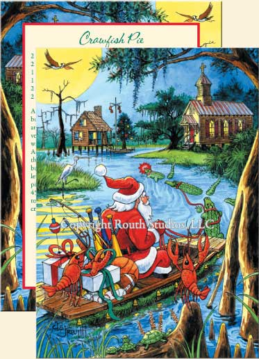 Cajun Christmas Cards Bayou Holiday Cards