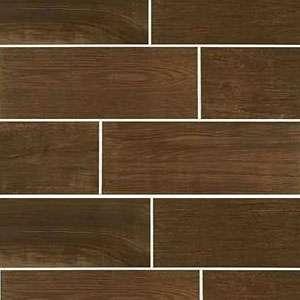 "7""x20"" Brown Rustic Tile"
