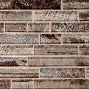 Glass strip mosaic tile