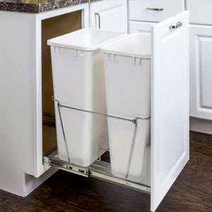 Double pullout waste container