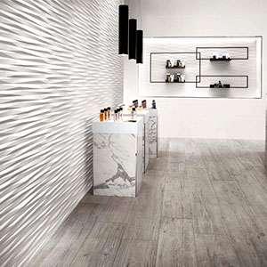White matte tile