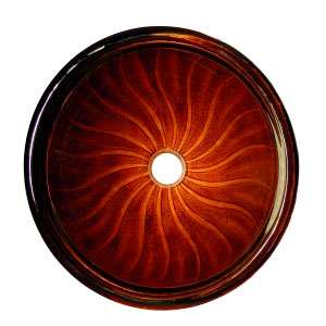 Sunburst vessel sink