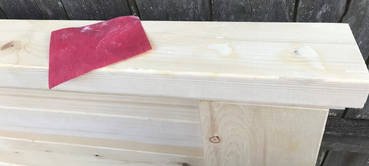 DIY Headboard Sand Wood Filler