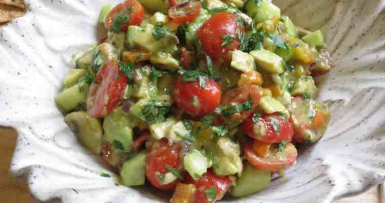 Avocado Salad with Cilantro Lime Vinaigrette