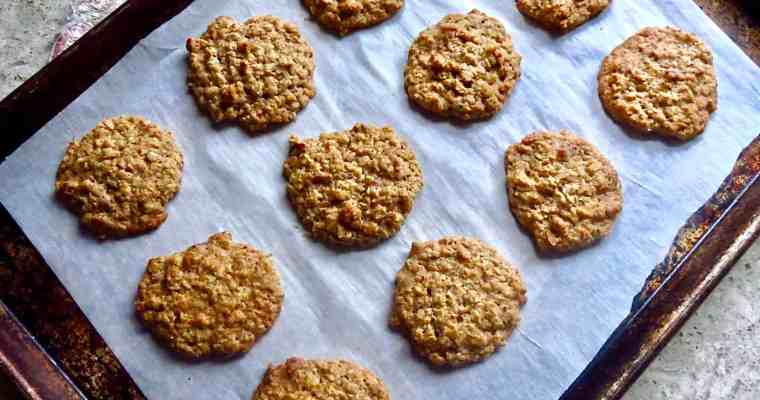 Lunchroom Lady Oatmeal Cookies