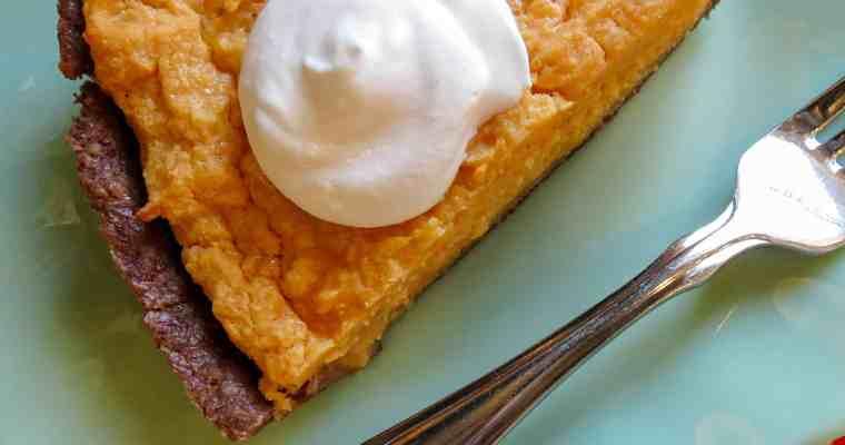 No-Sugar Sweet Potato Pie