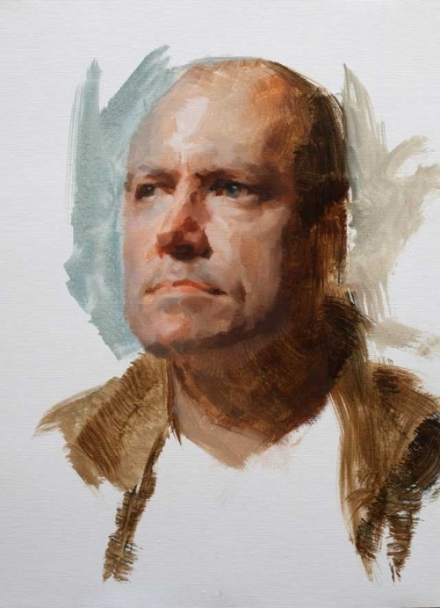Oil Painting of Rob by Louis Smith