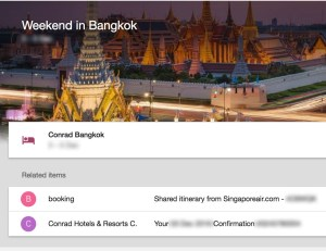 Missing flight information even after updating in Inbox