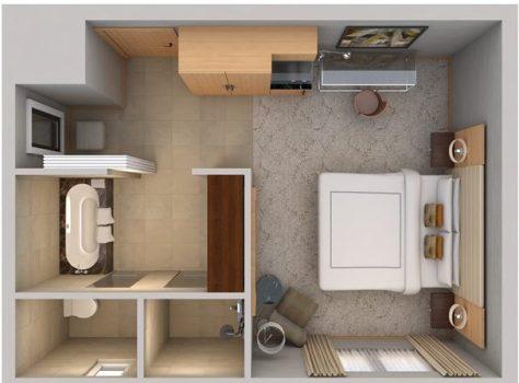 King Deluxe Rm floorplan