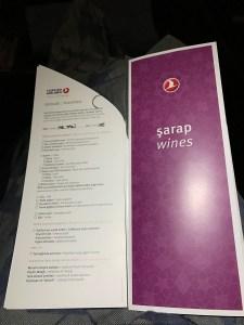 Turkish breakfast menu