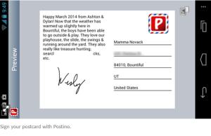 postcard sending apps