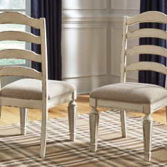 White Upholstered Chairs Chair Covers For Functions Realyn 2 Chipped Dining Louisville Home