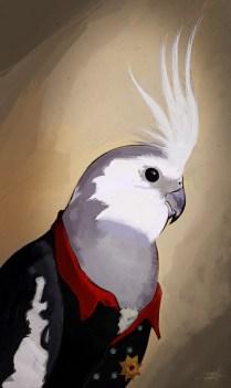Frederick the Cockatiel | digital painting | adobe photoshop