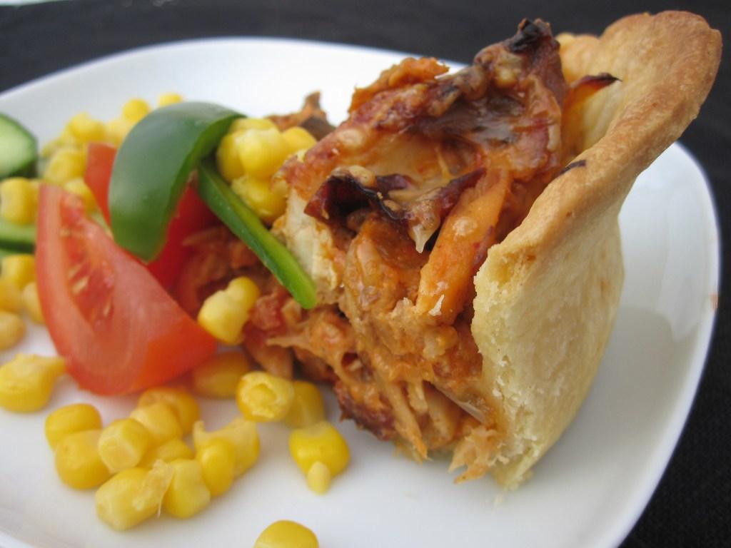 Kycklingpaj med tacosmak