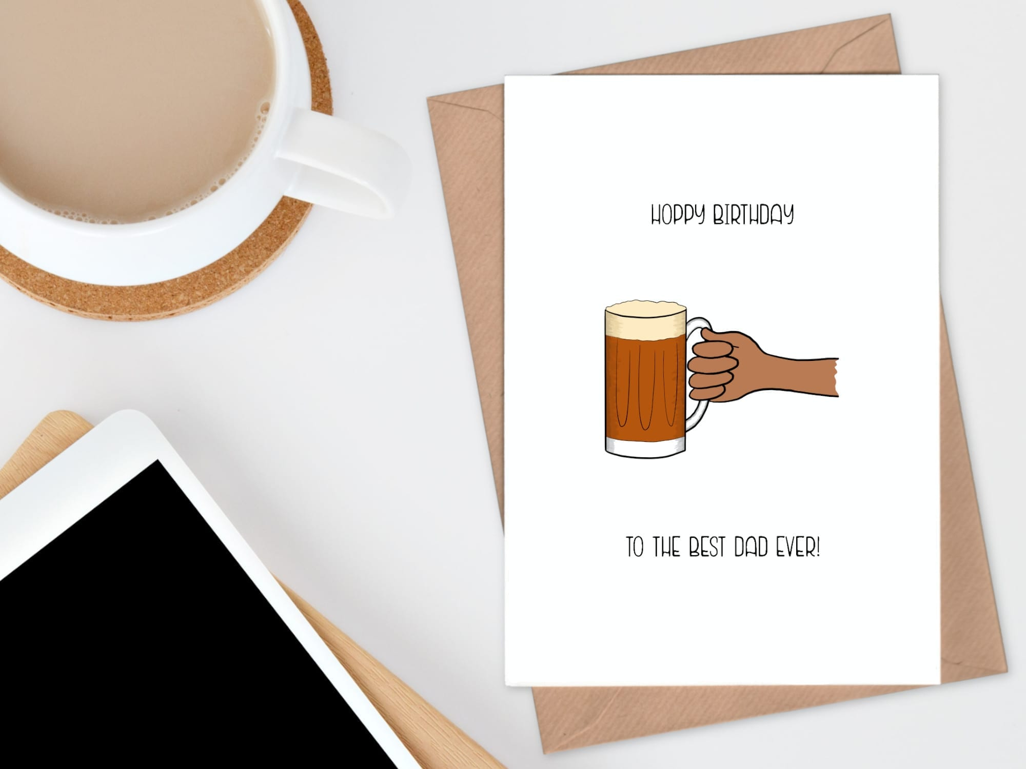 beer - dad hoppy birthday card