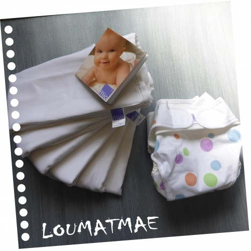 langes mionappy et culotte de protection Bambino Mio