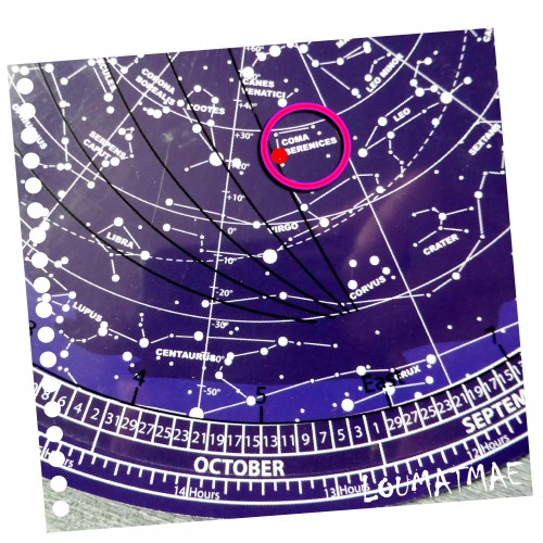 disque de recherche de coordonnées célestes