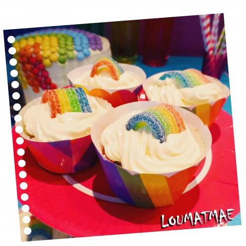 Cup cakes Rainbow