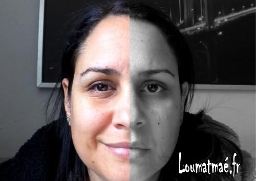 double face, face visible et face cachée
