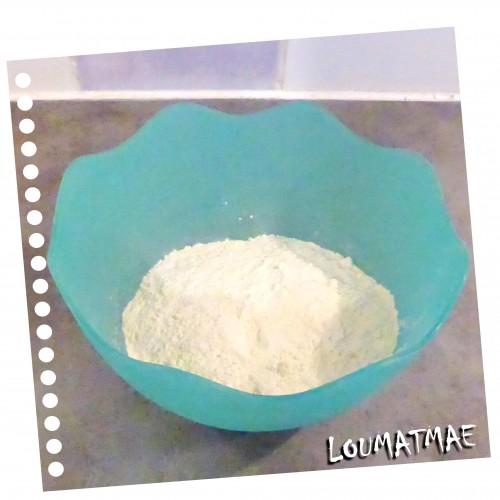 mélange farine et poudre d'amande