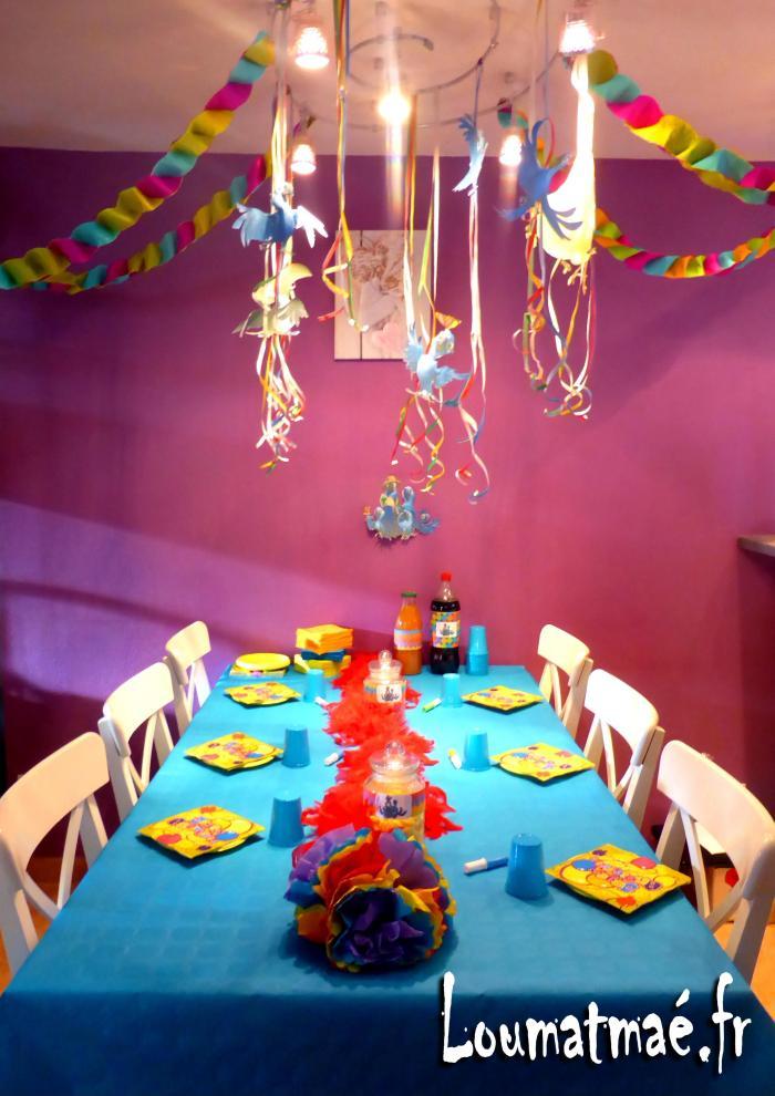 sweet table anniversaire Perroquet