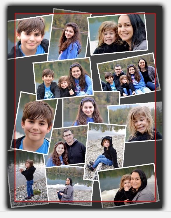 collage pele mele de photos
