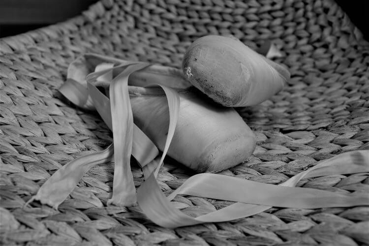 chaussons pointes de danse classiques usés