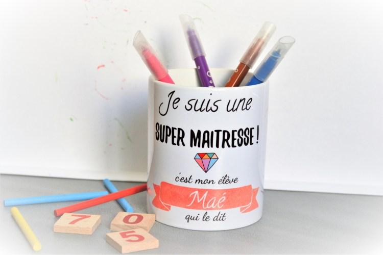 mug personnalisé merci maîtresse baby no soucy