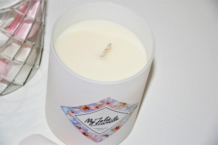 bougie parfumée marshmallow grillé